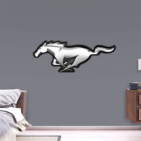 ford mustang home decor ford mustang logo wall decal shop fathead 174 for ford decor