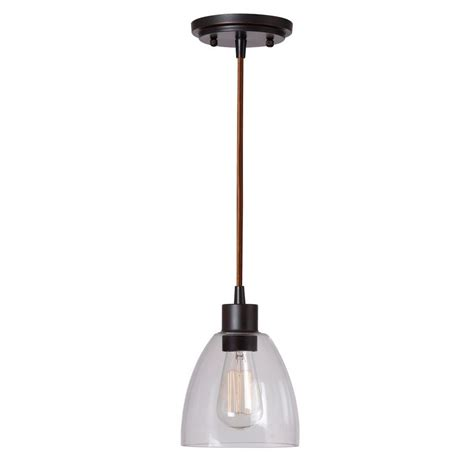 Titan Lighting Wycombe Collection 1 Light Oil Rubbed Bronze Pendant Lights
