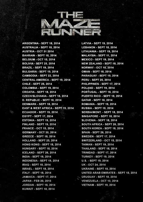 maze runner 2 film release date the maze runner first official trailer