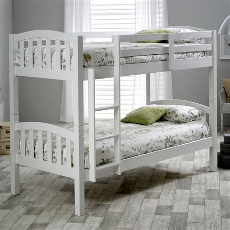 White Pine Bunk Beds Alantis Wooden Bunk Bed In White Pine 30349 Furniture In