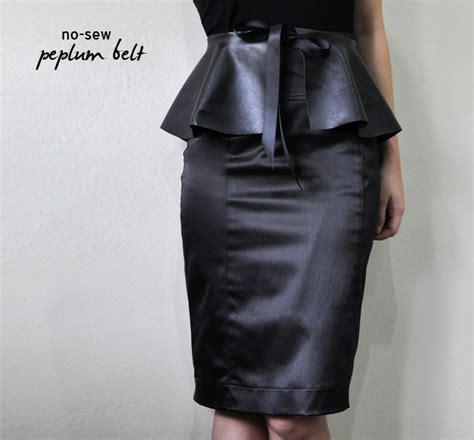 make a no sew peplum belt easy