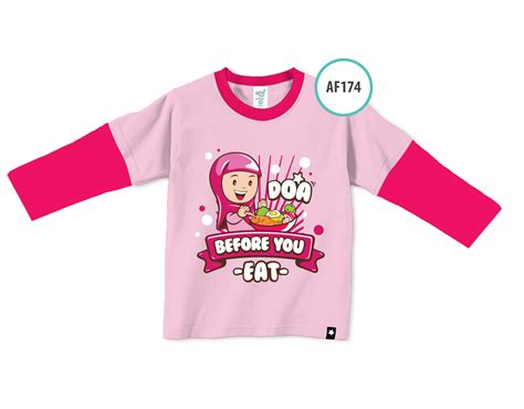 Kaos Anak Muslim Afrakids Doa Before You Eat Af139 Xl kaos afrakids af174 doa before you eat afrakidsnesia