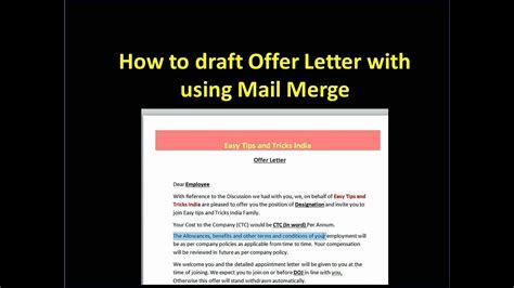 How To Make A Mail Merge Letter