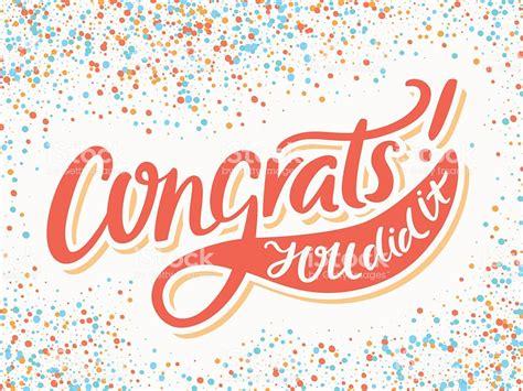 congrats images congratulations card congrats you did it stock vector