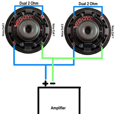 parallel speaker wiring 1 sub parallel free image about
