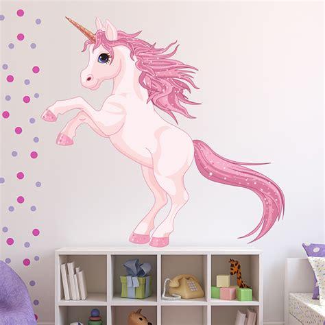unicorn wall sticker fantasy fairy tale wall decal girls bedroom nursery decor ebay