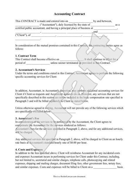 contract for accounting services template accounting forms spreadsheets journals