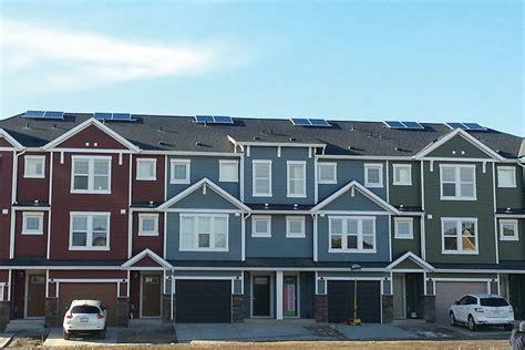 Zen Solar Panels - zen cranston solar townhomes calgary alberta skyfire