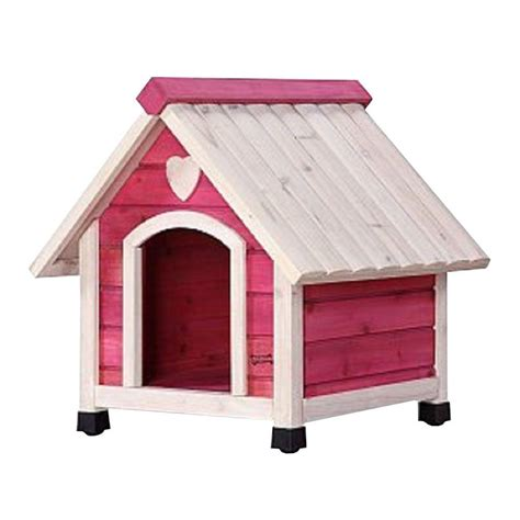 pet dog houses pet squeak 1 7 ft l x 2 2 ft w x 2 4 ft h arf frame pink small dog house 0006s pk
