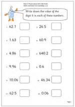 year 5 maths worksheet place value with decimals maths blog
