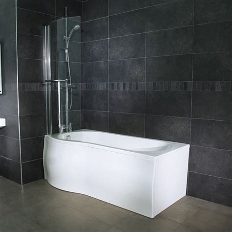 p shaped whirlpool shower bath whirlpool 1675 x 850 left p shaped shower bath with 6 jets curved screen