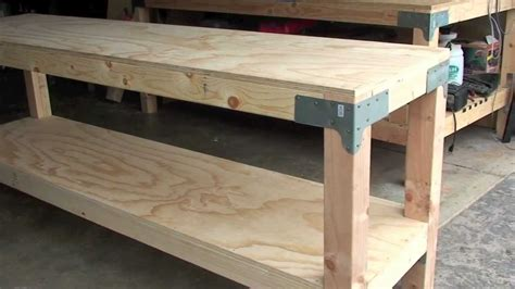 building a workshop bench woodwork diy workbench legs pdf plans