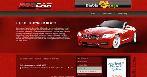 Free Joomla 2 5 Template Cars Free Joomla Templates Downloads Joomla Automotive Template