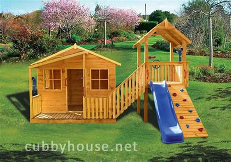 Elevated Cubby House Plans Kimba Castle Cubby House Australian Made Wooden Playground Diy Kits