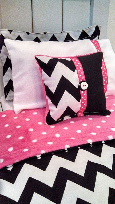 black chevron bedding american girl bedding black and white chevron 5 piece
