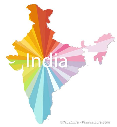 india map vector colorful india map vector vector free