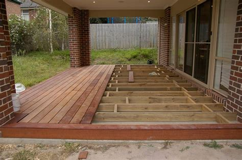 Replace Wood Deck With Concrete Patio by Install Decking Concrete Porch Search Diy