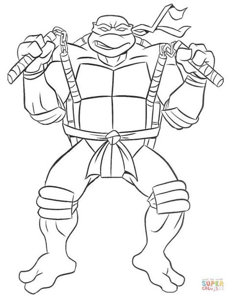 Turtles Michelangelo Coloring Pages michelangelo turtle coloring page free printable