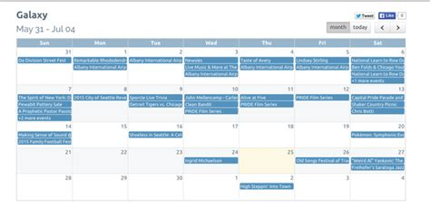 calendars embed website arent