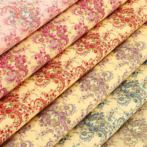 Vintage Paisley Quilt by Cotton Fabric By Fq Vintage Paisley Flower Bouquet