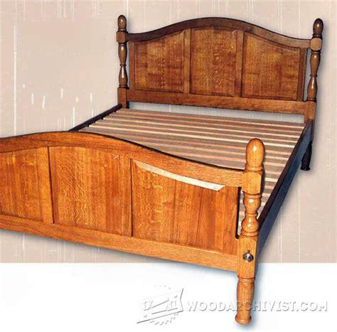 sofa bed plans oak bed plans woodarchivist