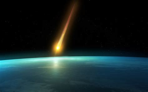 Falling Comet In The Earth S Atmosphere Background Hd | falling comet in the earth s atmosphere background hd