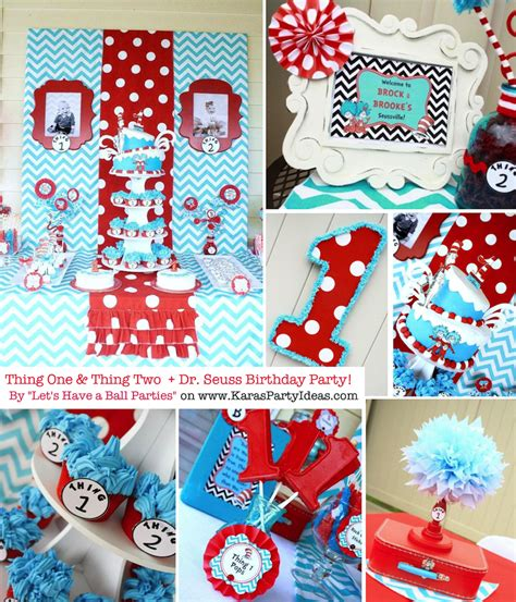 Thing 1 Thing 2 Decorations by Thing One Thing Two Dr Seuss 1st Birthday