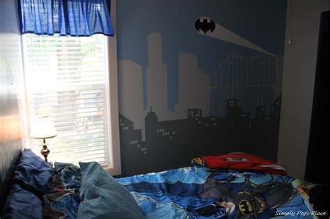 batman headboard simply peg s place the batman room before and after