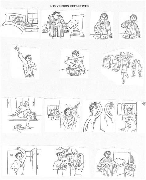imagenes verbos reflexivos 74 mejores im 225 genes de rutinas y acciones cotidianas en