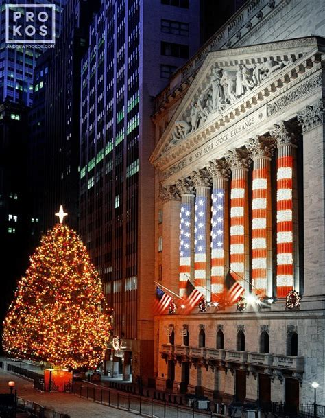 new york stock exchange at christmas i fine art photo by