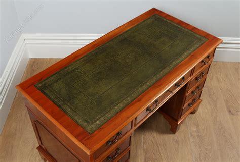 Vintage Wood Office Desk Antiques Atlas Georgian Style Yew Wood Green Leather Office Desk