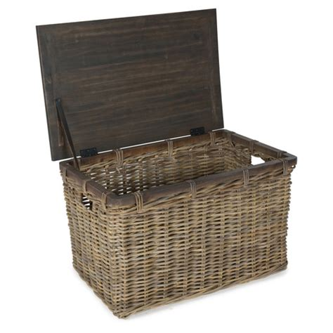 Wicker Trunk Coffee Table Rectangular Wooden Coffee Table With Rattan Trunk Temple Webster