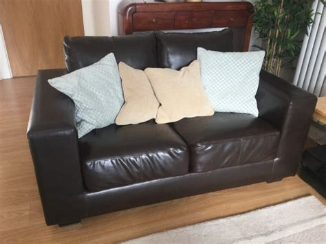 comfortable sofas for sale comfortable 2 seater brown leather style sofa for sale in
