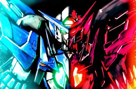 Kaos Anime Gundam 2 Exia gundam exia matter wallpaper poster image fanmade
