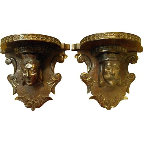 Carved Shelf Brackets Pair Of Antique Carved Shelf Brackets King And From
