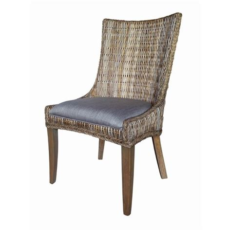 coaster dining chair coaster matisse woven dining chair in gray and gray wash
