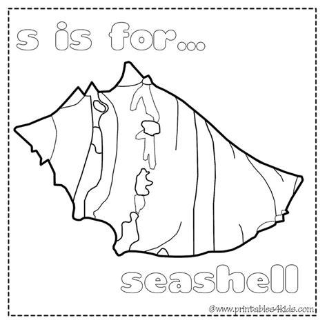 seashell coloring pages preschool seashell coloring pages az coloring pages