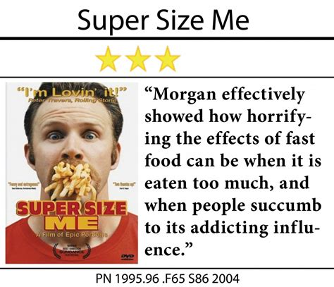 spurlock supersize me documentary review supersize me media center hbll