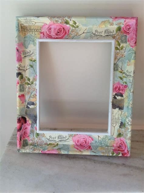 Decoupage Photo Frame Ideas - shabby decoupage frame https www etsy listing