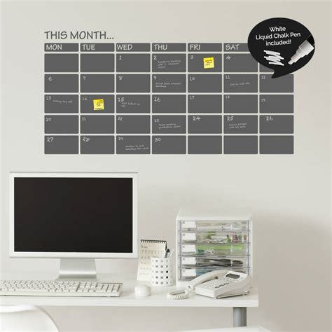 erase wall stickers write and erase monthly planner wall sticker by sirface graphics notonthehighstreet