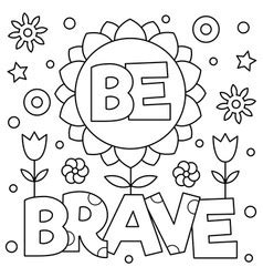 choose kindness coloring page royalty  vector image