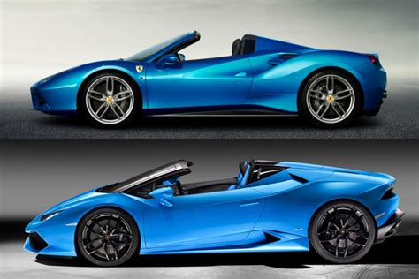 R1 Vs Lamborghini Lamborghini Huracan Spyder Vs 488 Which One