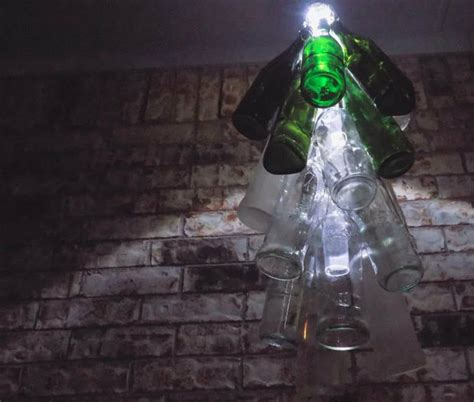 Diy Bottle Chandelier Bottle Chandelier Bigdiyideas
