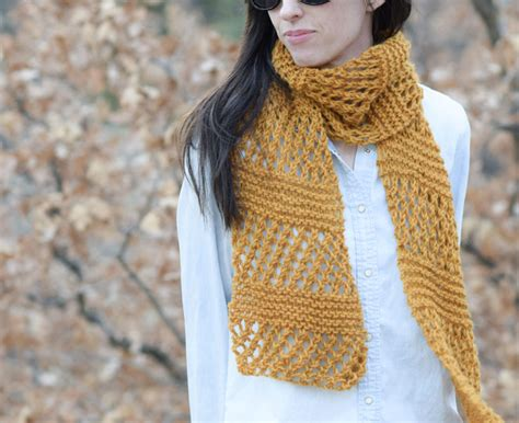 knit scarf pattern yarn over honeycombs summer easy scarf knitting pattern mama in a