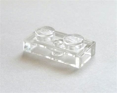 Promo Lego Part Trans Clear Plate 1 X 1 Side Transparen trans clear plate 1 x 2 lego parts