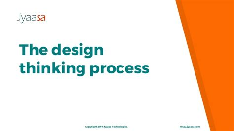design thinking slideshare the design thinking process