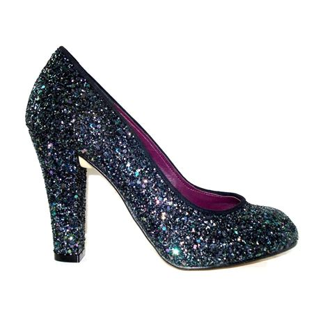 glitter shoes high heel beaded center lace glitter shoes