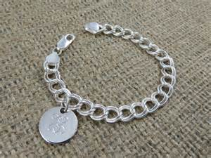 Monogram Bracelet Monogram Bracelet Monogrammed Sterling Silver Initial