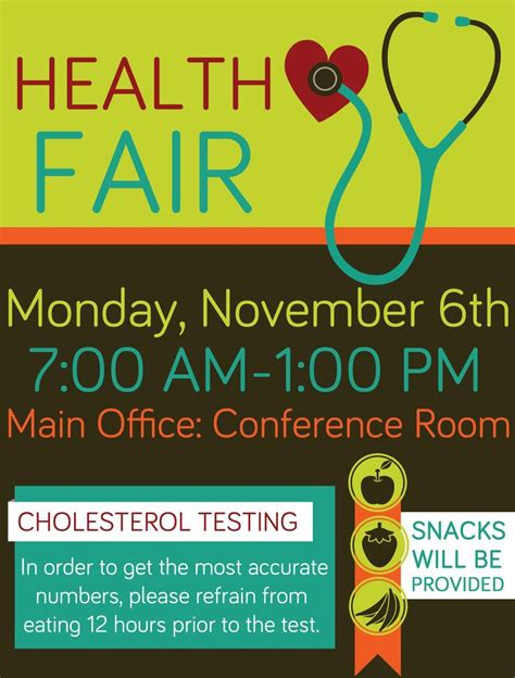 health fair flyer templates free company health fair flyer graphic design health fair walk ideas design