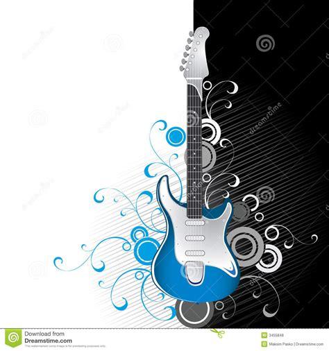 imagenes de guitarras blanco y negro guitare sur noir et blanc illustration de vecteur
